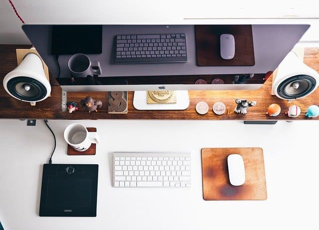 A variety of items on a desk